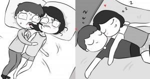 12 illusztráció, ami betekintést enged egy átlagos párkapcsolat első heteibe és miután összeszoktatok