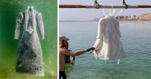Egy izraeli művész, aki a Holt-tengerbe mártott holmijaival kápráztatja el a világot