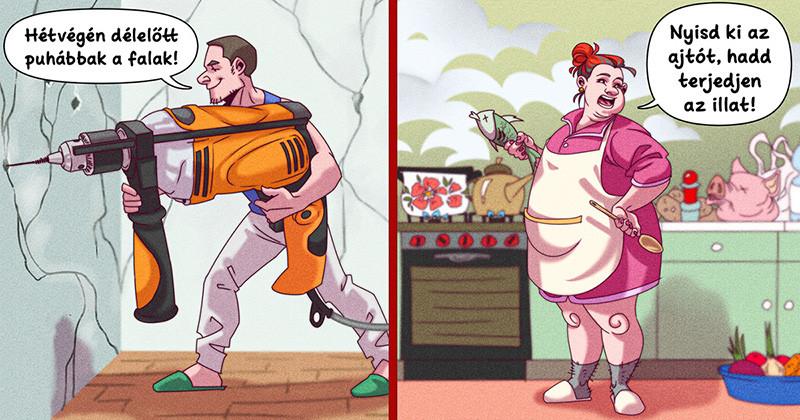 Vicces képregények: 15 szomszédtípus, akikkel mindannyian találkoztunk már